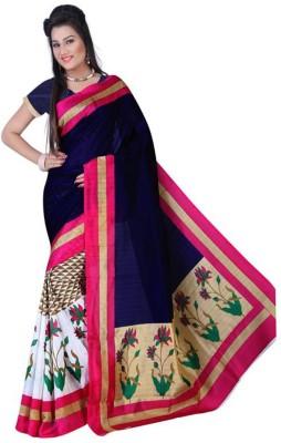 Lakshmi Lifestyle Floral Print Bhagalpuri Silk Cotton Blend Sari