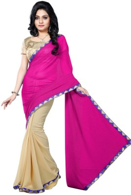 Vruticreation Self Design, Embriodered Bollywood Georgette, Lycra Sari
