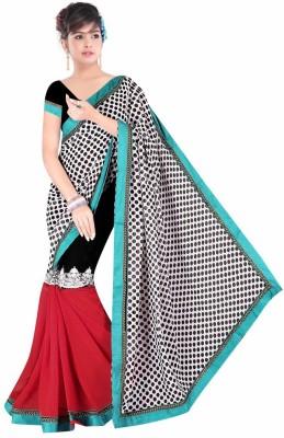 Dancing Girl Printed Bollywood Chiffon Sari
