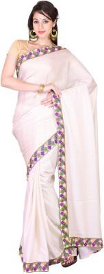 PurpleYou Embellished Fashion Silk Sari