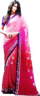 Shaarada Self Design Fashion Pure Chiffon Sari