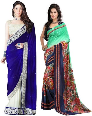 Stylobby Embriodered Fashion Pure Georgette Sari