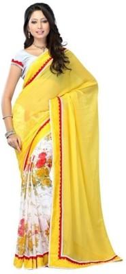 Nidhik Printed Bollywood Synthetic Georgette Sari