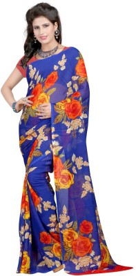HRK Enterprise Printed Bollywood Georgette Sari