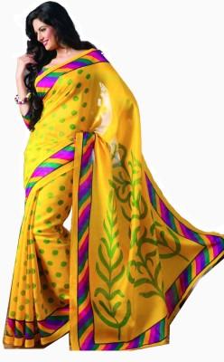 Sudarshan Silks Floral Print Cotton, Silk Sari