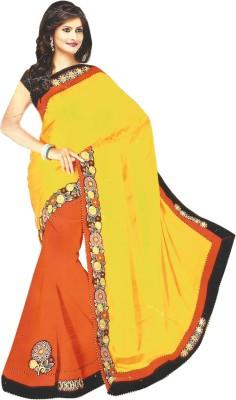 Bebzcozzy Self Design Fashion Pure Georgette Sari