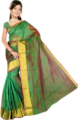 Anglefashion Self Design Bollywood Art Silk Sari