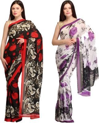 Skyline Trading Self Design Daily Wear Georgette, Georgette Sari