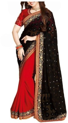Style U Self Design Bollywood Brasso Fabric Sari