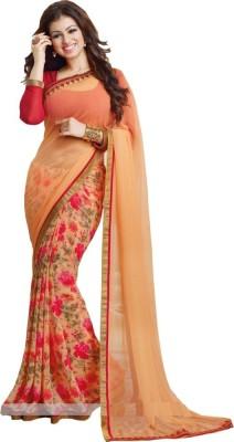 Hari Krishna sarees Printed Bollywood Georgette Sari