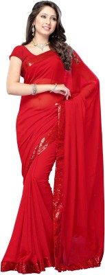 Nine Sister Embriodered Bollywood Georgette Sari