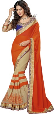 Dhnet Embriodered Fashion Handloom Georgette Sari