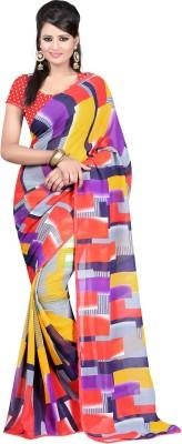 Aadhya Fashion House Self Design Chanderi Georgette Sari