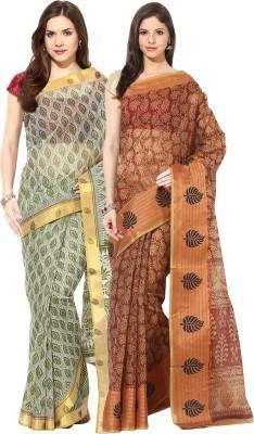 Fostelo Printed Bollywood Cotton Sari