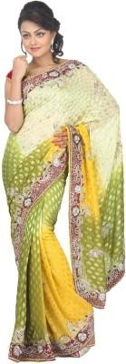 MJC Self Design Fashion Chiffon Sari