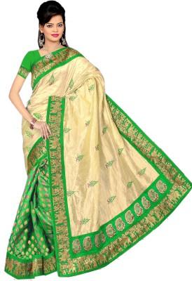 Vini Designer Embriodered Assam Silk Jacquard Sari