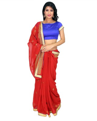 Maahika Embriodered Fashion Georgette Sari