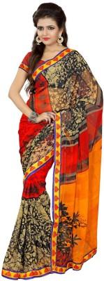 Arthenterprise Printed Fashion Art Silk Sari