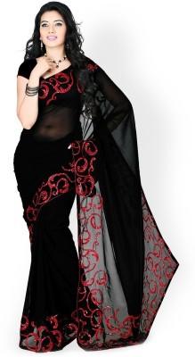 Kyara Plain Bollywood Georgette Sari