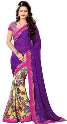 Impnew Embriodered Fashion Georgette Sari