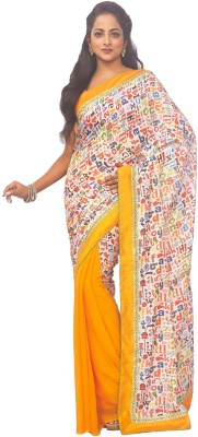 Zorbain Style Self Design Fashion Georgette Sari