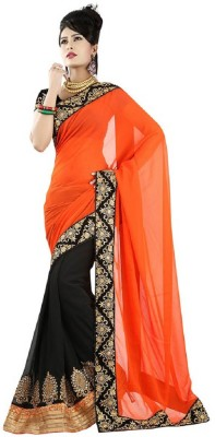 Vishal99 Self Design Bollywood Chiffon Sari
