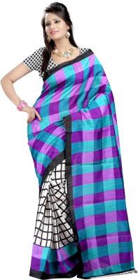 SNEH VARSHA SAREES Checkered Bhagalpuri Handloom Chanderi Sari
