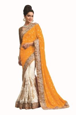 Chirag Sarees Self Design Fashion Net Sari