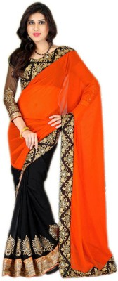 Dancing Girl Embriodered Bollywood Georgette Sari