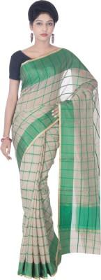 Silk Line Sarees Woven Banarasi Silk Cotton Blend Sari(Green)