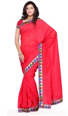 Diva Fashion Solid Daily Wear Art Silk Sari
