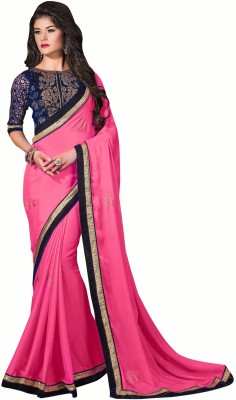 The Ethnic Chic Embriodered Fashion Chiffon Sari