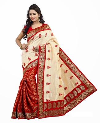 Livaaz Embriodered Sambalpuri Handloom Art Silk Sari