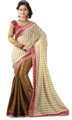 Shart Embriodered, Woven, Self Design Bollywood Georgette, Jacquard, Viscose Sari