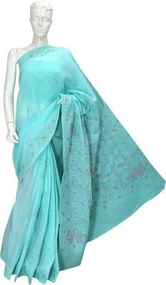 Ada Embriodered Lucknow Chikankari Handloom Cotton Sari