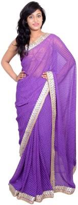 MSS Plain Bollywood Georgette Sari