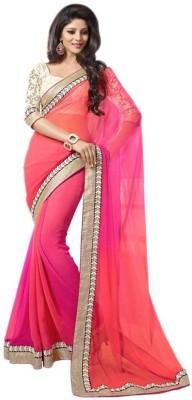 Ustaad Embriodered Bollywood Chiffon Sari