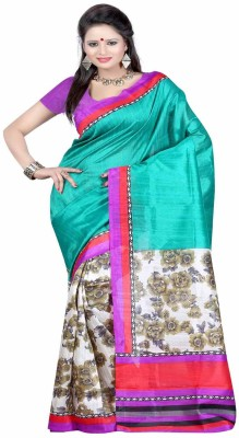 Rekha Sarees Printed Bhagalpuri Silk Sari