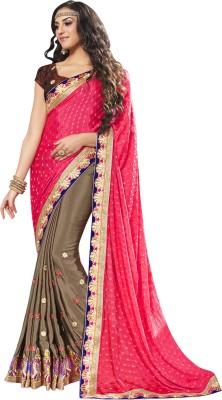 Dilwaa Self Design, Embellished, Embriodered Fashion Satin, Chiffon, Jacquard Sari