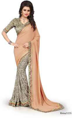 Sarees House Self Design, Printed Fashion Georgette Sari