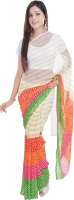 Soundarya Printed Leheria Georgette Sari