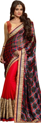Renuja Embriodered Fashion Brasso Sari