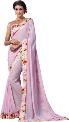 Brijraj Embellished Fashion Jacquard, Georgette, Silk Sari