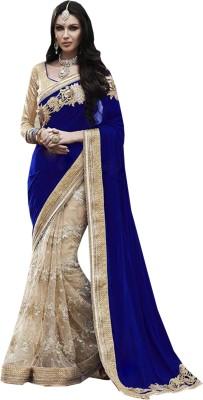 Greenvilla Designs Embriodered Fashion Velvet Sari