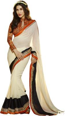 Chhabra Bros Embriodered Fashion Handloom Art Silk Sari