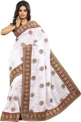 Adde Embellished, Embriodered Bhagalpuri Silk Sari