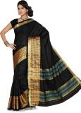 Ishin Printed Fashion Cotton Saree (Blac...