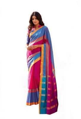Signature Fashion Printed Fashion Silk Cotton Blend Sari