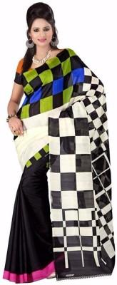 VINCITORE Printed Bhagalpuri Art Silk Sari