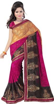 G3 Fashions Printed Daily Wear Handloom Jacquard Sari
